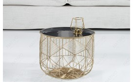 Table d'appoint Design CAGE GOLD 36 cm NATIVO™ Möbel Schweiz