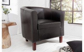 Fauteuil Lounge ERNEST DARK BROWN