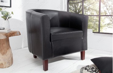 Poltrona Lounge ERNEST BLACK NATIVO™ Möbel Schweiz