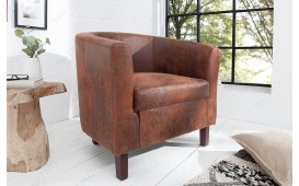 Fauteuil Lounge ERNEST LIGHT BROWN