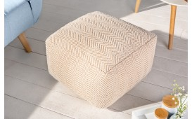 Designer Sitzhocker CLASSICO BEIGE