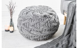 Pouf di design BOHO II GREY
