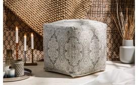 Designer Sitzhocker BOHO ORIENTAL GREY 52 cm
