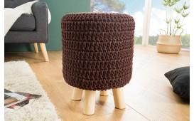 Designer Sitzhocker LEED DARK COFFEE I