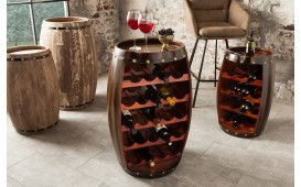 Etagère Design WINE VILLA DARK 80 cm