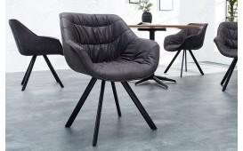 2 x Chaise Design WADE BLACK