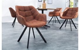 2 x Sedia di design LAZE BROWN