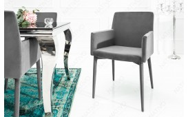 Chaise Design TORINO GREY AVEC ACCOUDOIR