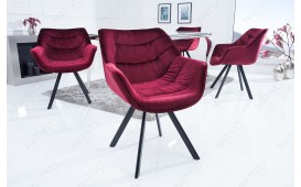 2 x Sedia di design SOLACE BORDEAUX