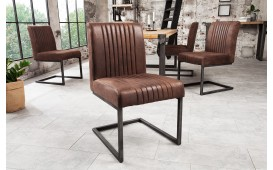2 x Chaise Design VILLA BROWN ANTIK