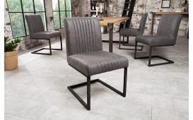 Chaise Design VILLA GREY BLACK