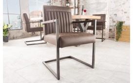 Chaise Design VILLA BROWN MIT ARMLEHNE