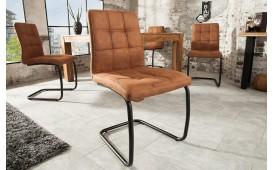 Chaise Design LIVORNO LIGHT BROWN