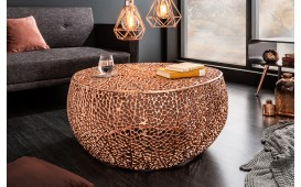 Table basse Design POCAHONTAS COPPER 80 cm