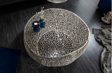Table basse Design POCAHONTAS SILVER 80 cm