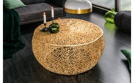 Designer Couchtisch POCAHONTAS GOLD 80 cm