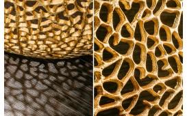 Table basse Design POCAHONTAS GOLD 80 cm