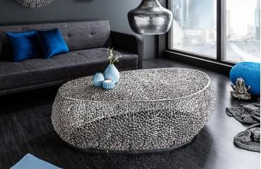 Designer Couchtisch POCAHONTAS SILVER 122 cm NATIVO™ Möbel Schweiz