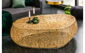 Table basse Design POCAHONTAS GOLD 122 cm