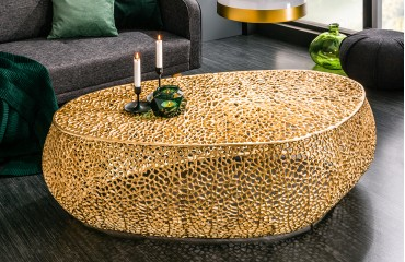 Designer Couchtisch POCAHONTAS GOLD 122 cm NATIVO™ Möbel Schweiz