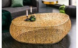 Designer Couchtisch POCAHONTAS GOLD 122 cm