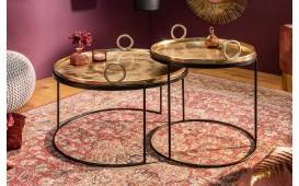 Table basse Design UNITY GOLD SET 2