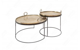 Designer Couchtisch UNITY GOLD SET 2 NATIVO™ Möbel Schweiz
