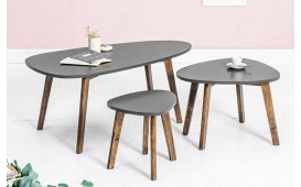 Tavolino di design MAN GREY SET 3
