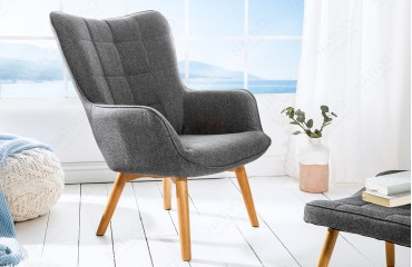 Fauteuil Lounge BIG MAN GREY