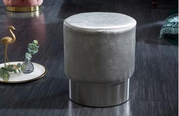 Designer Sitzhocker ROCCO SILVER 35 cm NATIVO™ Möbel Schweiz