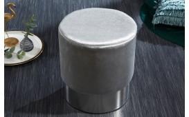 Tabouret Design ROCCO SILVER 35 cm