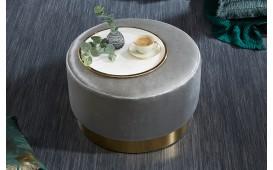 Pouf di design ROCCO SILVER GOLD 55cm