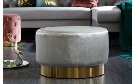 Designer Sitzhocker ROCCO SILVER GOLD 55 cm