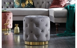 Tabouret Design ROCCO CHESTER GREY GOLD