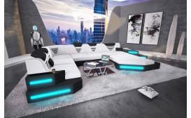 Canapé Design NEMESIS XXL avec éclairage LED & port USB