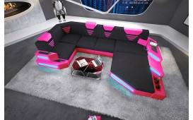 Designer Sofa NEMESIS XL mit LED Beleuchtung & USB Anschluss NATIVO™ Möbel Schweiz
