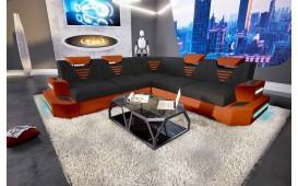 Designer Sofa NEMESIS CORNER mit LED Beleuchtung & USB Anschluss
