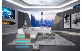 Designer Sofa NEMESIS CORNER mit LED Beleuchtung & USB Anschluss NATIVO™ Möbel Schweiz