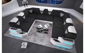 Canapé Design NEMESIS CORNER U FORM avec éclairage LED & port USB NATIVO™ Möbel Schweiz