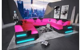 Divano di design NEMESIS CORNER U FORM con illuminazione a LED e presa USB NATIVO™ Möbel Schweiz