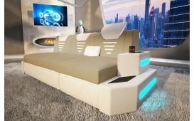 Canapé Design 3 places NEMESIS avec éclairage LED & port USB