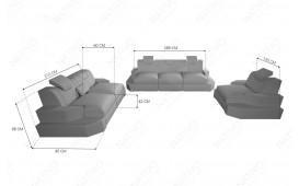 3 Sitzer Sofa NEMESIS mit LED Beleuchtung & USB Anschluss NATIVO™ Möbel Schweiz