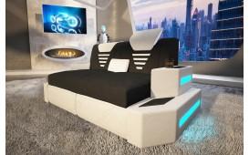2 Sitzer Sofa  NEMESIS mit LED Beleuchtung & USB Anschluss