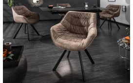 Designer Stuhl SOLACE DARK BEIGE NATIVO™ Möbel Schweiz