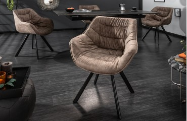 Chaise Design SOLACE DARK BEIGE