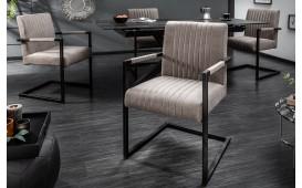 2 x Chaise Design VILLA BEIGE