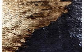 Designer Kissen GLOSSY GOLD-BLACK NATIVO™ Möbel Schweiz