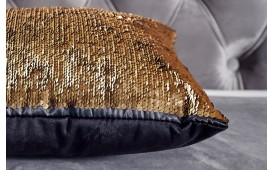 Cuscino di design GLOSSY GOLD-BLACK