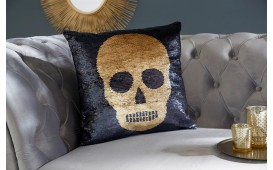 Cuscino di design BONE GOLD-BLACK