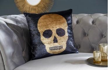 Oreiller Design BONE GOLD-BLACK
